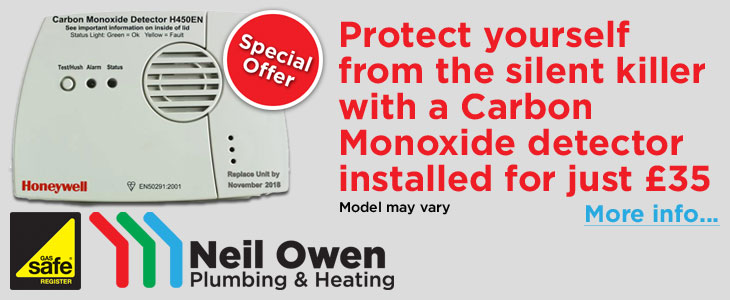 Protect yourself from the silent killer with a CO detector for just £35 installed